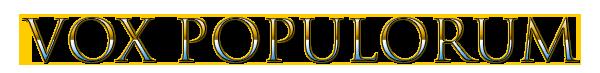 Vox Populorum – The VoxPopcast